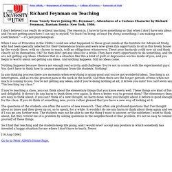 Richard Feynman on Teaching