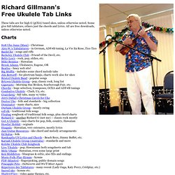 Richard Gillmann's Free Ukulele Tab Links