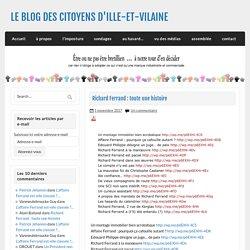 Richard Ferrand : toute une histoire - LE BLOG DES CITOYENS D'ILLE-ET-VILAINE