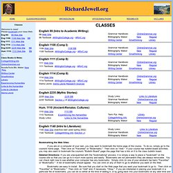 Richard Jewell: Classes and Courses Web Sites