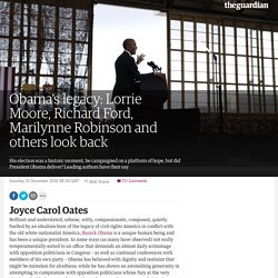 Obama's legacy: Lorrie Moore, Richard Ford, Marilynne Robinson and others look back