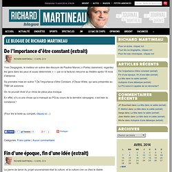 Le blogue de Richard Martineau