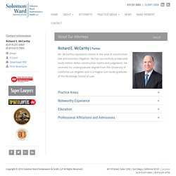 Richard E. McCarthy - Solomon Ward Partner