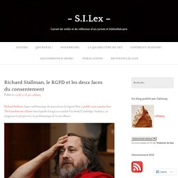 Richard Stallman, le RGPD et les deux faces du consentement