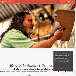 Richard Stallman : « Plus rien ne me fait rêver dans la technologie » - Tech