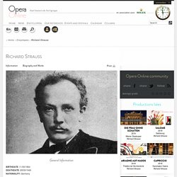 Richard Strauss : Biographie et oeuvres majeures - Opera Online