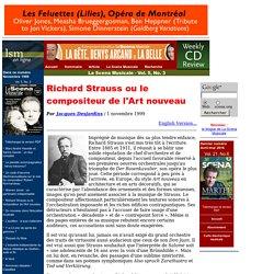 Richard Strauss ou le compositeur de l'Art nouveau - scena .org