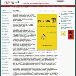 Yi King, I Ching : Richard Wilhelm, Etienne Perrot