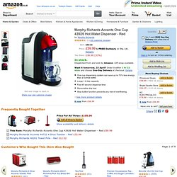 Morphy Richards Accents One Cup 43926 Hot Water Dispenser, Red: Amazon.co.uk: Kitchen & Home
