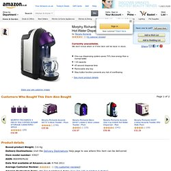 Morphy Richards Meno One Cup 43927 Hot Water Dispenser, Plum: Amazon.co.uk: Kitchen & Home