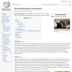 Kevin Richardson (zookeeper) - Wikipedia, the free encyclopedia