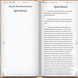 "Spirit Bound "" by Richelle Mead"