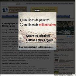 «Faire payer les riches»: un consensus démagogique