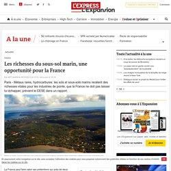 Les richesses du sous-sol marin, une opportunité pour la France - LExpress.fr