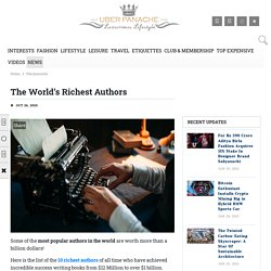 The Richest Authors in the World - List of Wealthiest Authors
