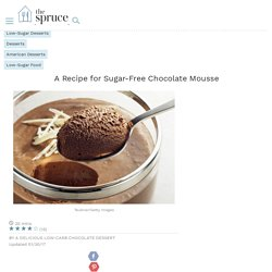 The Richest, Creamiest Sugar-Free Chocolate Mousse