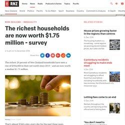NZ's Richest Households now worth $1.75 million