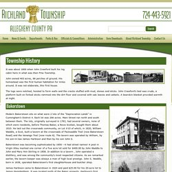 History of Richland Township, Allegheny County | Bakerstown, Gibsonia, B&O Railroad, Old Plank Road