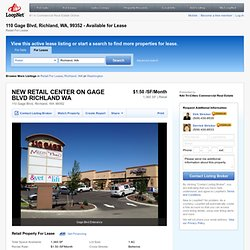 110Gage Blvd, Richland, WA, 99352 - Strip Center Property for Lease on LoopNet