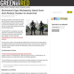 Richmond Cops Mistakenly Hand Over Anti-Protest Guides to Anarchist