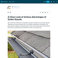 A Close Look at Various Advantages of Gutter Guards: richrayburnroof — LiveJournal
