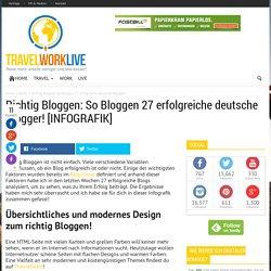 Richtig Bloggen: So Bloggen 27 erfolgreiche Blogger