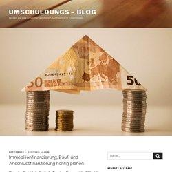 Immobilienfinanzierung, Baufi und Anschlussfinanzierung richtig planen - Umschuldungs - Blog