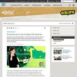 GRIPS Deutsch 1: So kommst du an die richtigen Informationen