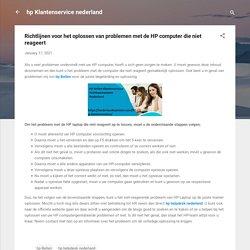 Richtlijnen voor het oplossen van problemen met de HP computer die niet reageert