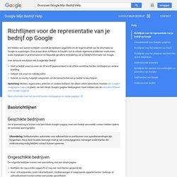 Richtlijnen voor de representatie van je bedrijf op Google - Google Mijn Bedrijf Help