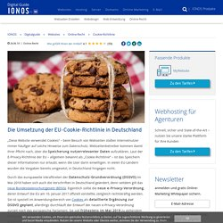 Cookie-Hinweis 2019: Was gilt in Deutschland? - IONOS