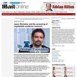 Jason Richwine and the censoring of unpalatable academic research - Mail Online