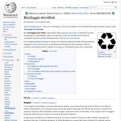 Riciclaggio dei rifiuti
