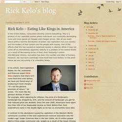 Rick Kelo's blog: Rick Kelo – Eating Like Kings in America