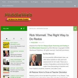 Rick Wormeli: The Right Way to Do Redos