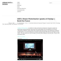 UDD's Shawn Rickenbacker speaks at CityAge