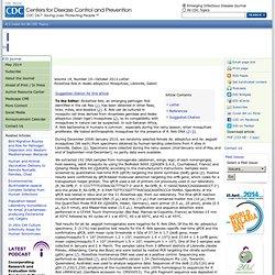CDC EID - OCT 2012 - Rickettsia felis in Aedes albopictus Mosquitoes, Libreville, Gabon