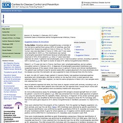 CDC EID - FEV 2013 - Au sommaire:Clustered Cases of Rickettsia sibirica mongolitimonae Infection, France