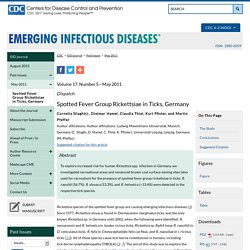 CDC EID - MAI 2011 - Spotted Fever Group Rickettsiae in Ticks, Germany