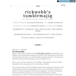 rickwebb's tumblrmajig (On The Bubble)