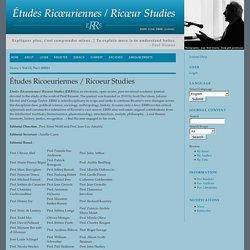 Études Ricoeuriennes / Ricoeur Studies