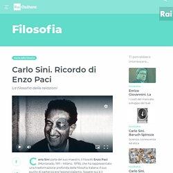 Carlo Sini. Ricordo di Enzo Paci   - Filosofia - Rai Cultura