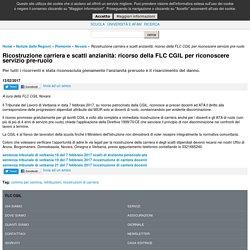 Ricostruzione carriera e scatti anzianità: ricorso della FLC CGIL per riconoscere servizio pre-ruolo