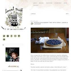 ricotta & blueberry tart with honey, lemon & lavender