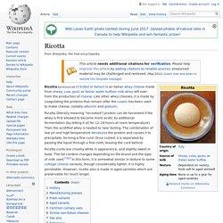 Ricotta - Wikipedia
