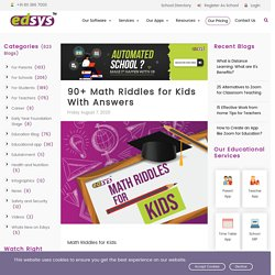 90+ Math Riddles for Kids With Answers