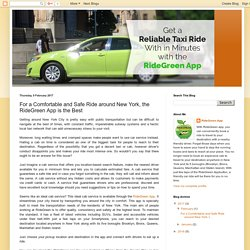 RideGreen App: For a Comfortable and Safe Ride around New York, the RideGreen App is the Best