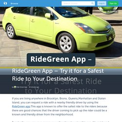 RideGreen App – Try it for a Safest Ride to Your Destination (with image) · ridegreen