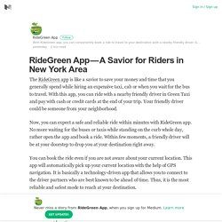 RideGreen App — A Savior for Riders in New York Area