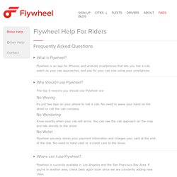Rider FAQs for our Cab App